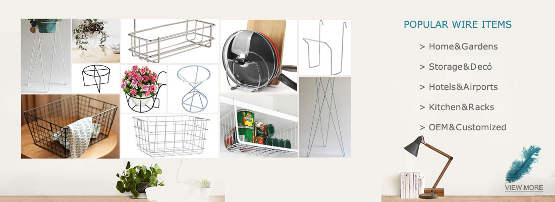 banner 2-Metal Rack _ Wire Basket _ Home&Garden