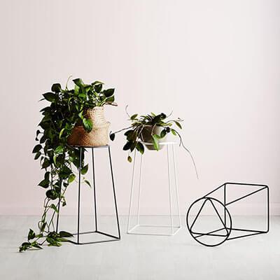 Home decoration luxury antique imitation flower pot plant holder iron storage rack