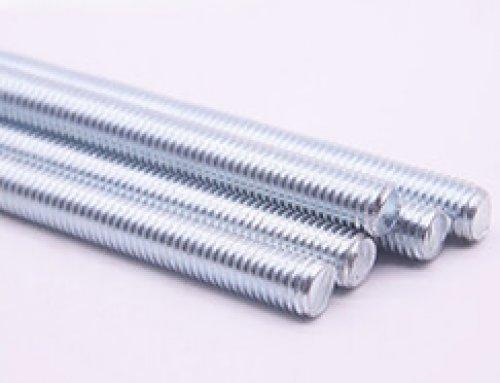 Threaded Rod with Full Thread, Zinc Plated, Gr4.8