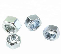 DIN934 Carbon Steel Hex Nuts Zinc Plated Grade 4.8 8.8 10.8