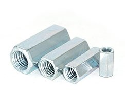 Custom long hex nut hex coupling nut DIN 6334 standard