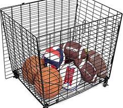 Sports Lockable Ball Storage Cage for Garage Storage Garage