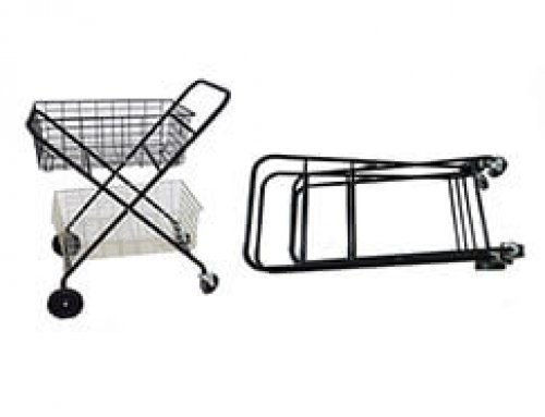 Folding Ball Cart Trolley with Metal Wire Basket