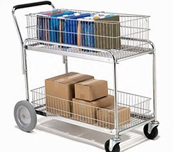 Metal Office Mail Delivery Cart Multi-Purpose Trolley Rack Cart