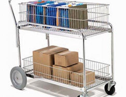 Metal Office Mail Cart Multi-Purpose Trolley Rack Cart