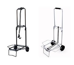 Outdoor metal rolling luggage bag trolley folding travel cart supplier