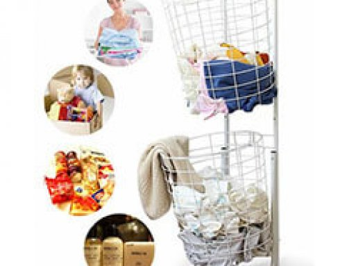 Wire Dirty Clothes Storage Basket Cart With Wheels